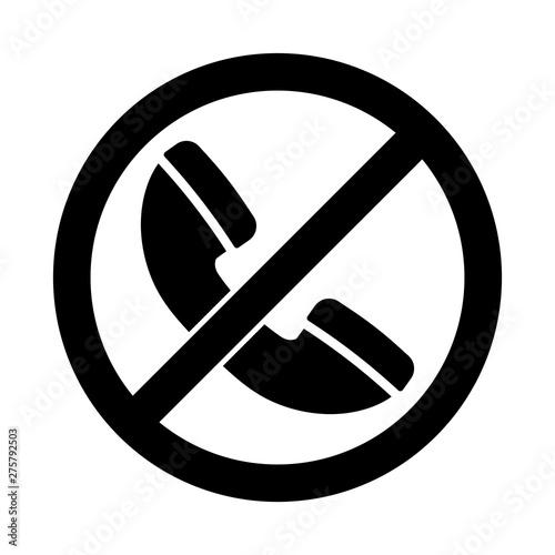 Fotografie, Obraz  No phone sign