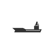 Ship Icon Template Black Color Editable. Ship Symbol Vector Sign Isolated On White Background. Simple Logo Vector Illustration For Graphic And Web Design.