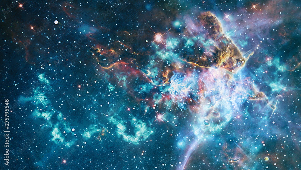 Fototapety, obrazy: Galaxy creative background. Starfield stardust and nebula space. background with nebula, stardust and bright shining stars. Elements of this image furnished by NASA.