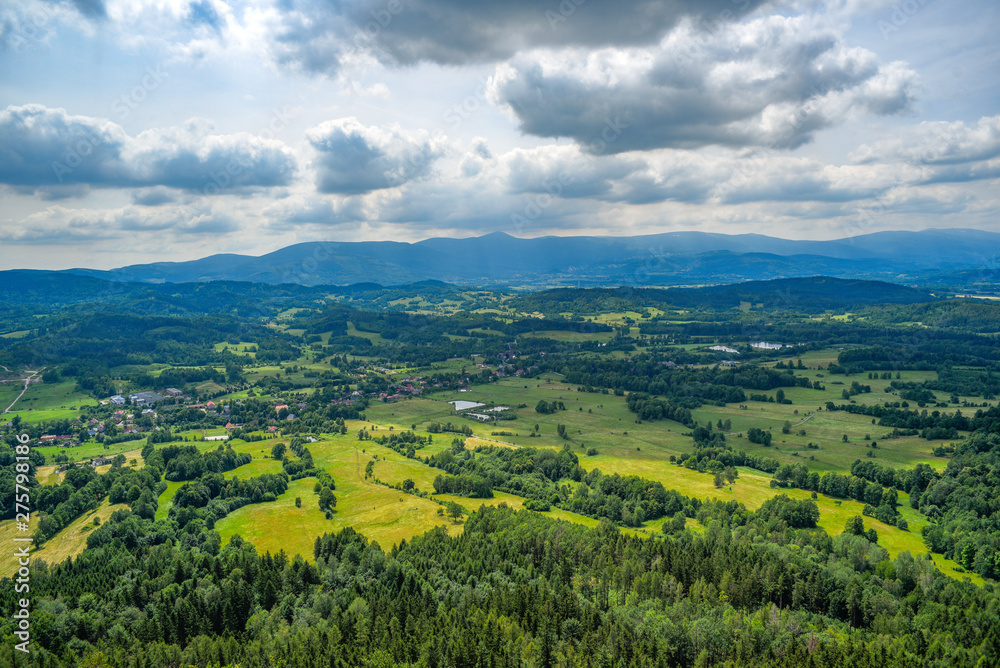 Fototapety, obrazy: Mountain landscape. Karkonosze, mountains in Poland.