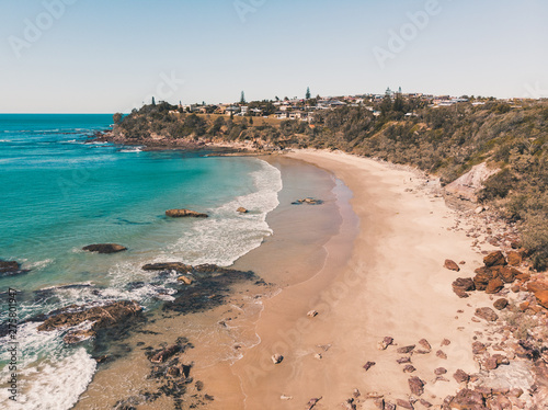 Photographie Drone shot of Middle Rock Beach at Lake Cathie, near Port Macquarie on the Mid N