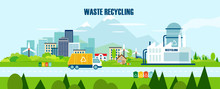 Vector Concept Pure Nature, Waste Recycling