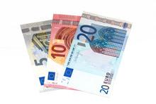 5, 10, 20 Euro Banknotes Isola...