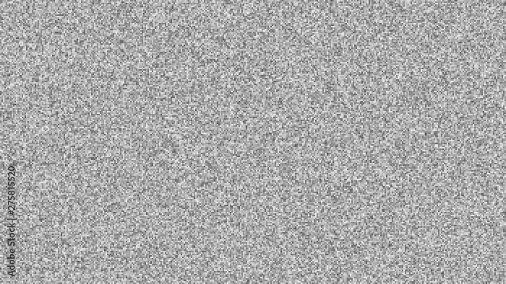 Fototapeta Abstract screen texture glitch noise. Test screen glitch noise texture template. Vector illustration.