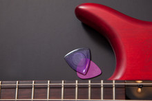 Bass Neck, Two Picks And Horn