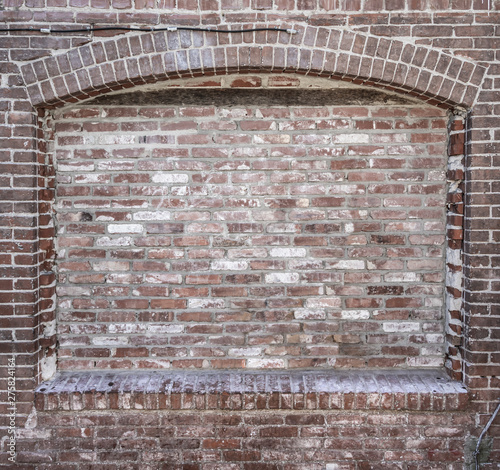 Poster Spirale Grungy Blank Brick Wall with Inset Background