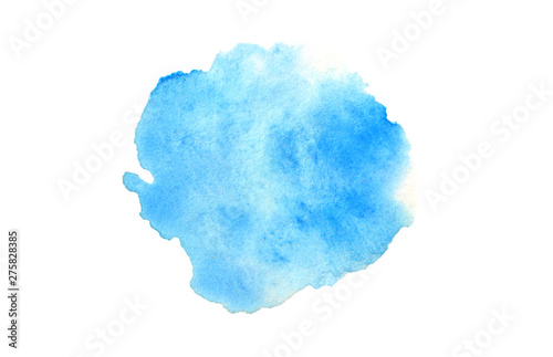 Abstract watercolor and acrylic blot painting. Color design element. Texture paper. Isolated on white background.
