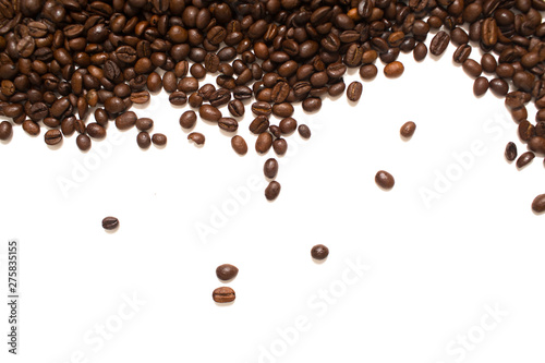 Tuinposter koffiebar Coffee beans. Isolated on white background.