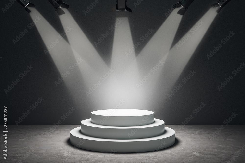 Fototapeta Abstract illuminated podium
