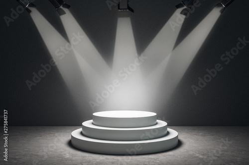 Obraz Abstract illuminated podium - fototapety do salonu