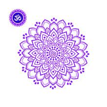 Crown Chakra Mandala Vector