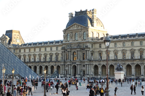 The Louvre or the Louvre Museum is the world's largest museum and a historic monument in Paris, France Tableau sur Toile