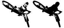 Cyclist On Mountain Bike