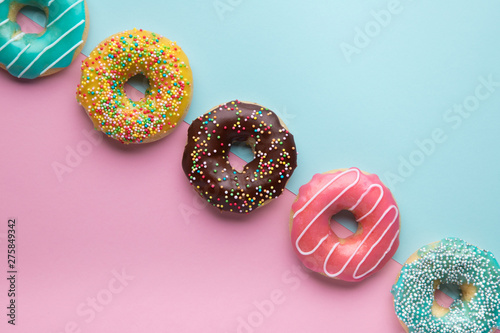 Colorful sweet background with copy space. Wallpaper Mural