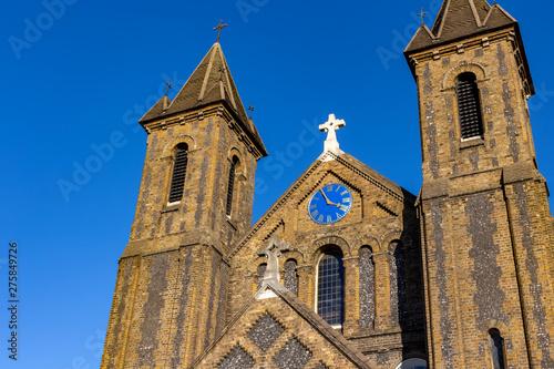 Obraz na plátne LONDON, UK – Oct 21, 2018: St John the Evangelist a neo norman church at Harrow