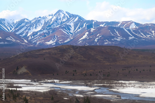 frozen river in the mountains #275853501
