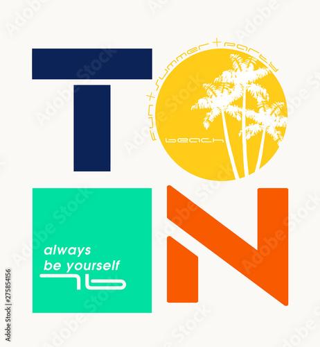 фотография Expression: `always be yourself` typography, tee shirt graphics