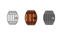 Barrel Vector Icon Sign Symbol