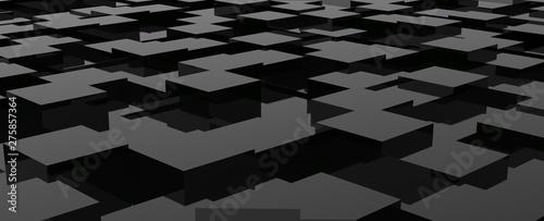 Diseño de patrón abstracto en superficie de diferentes tamaños. Fondo tridimensional de cubos coloridos y de madera