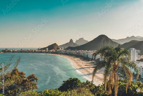 View of Copacabana Beach in Rio de Janeiro, Brazil