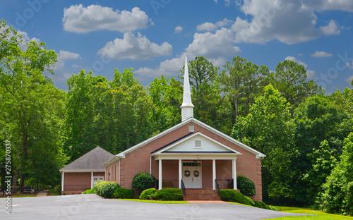 Vászonkép Small Baptist Church in a Rural Setting
