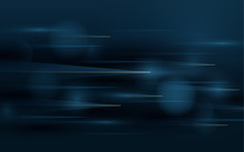 Abstract Technology Hi Tech Futuristic Background. Speed Motion Movement Concept