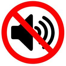 No Sound Vector Sign