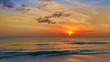 Beautiful Ocean Sunset Sky Beach Waves