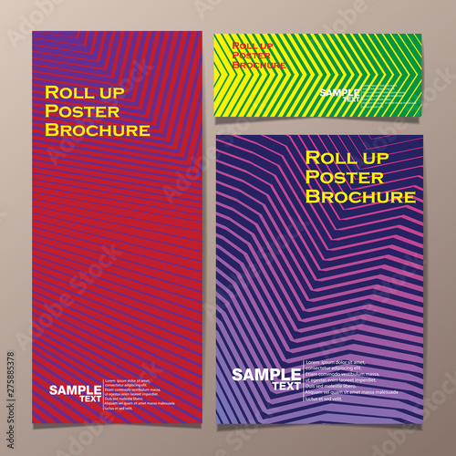Fototapety, obrazy: roll up and poster business brochure flyer banner design vertical template vector, cover presentation abstract geometric background, modern publication x-banner and flag-banner.