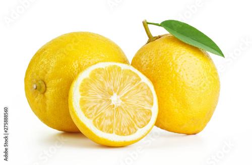fresh lemons isolated on white background Fototapet