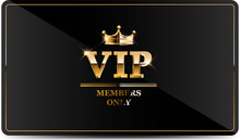 Premium VIP Card With Gold Ele...