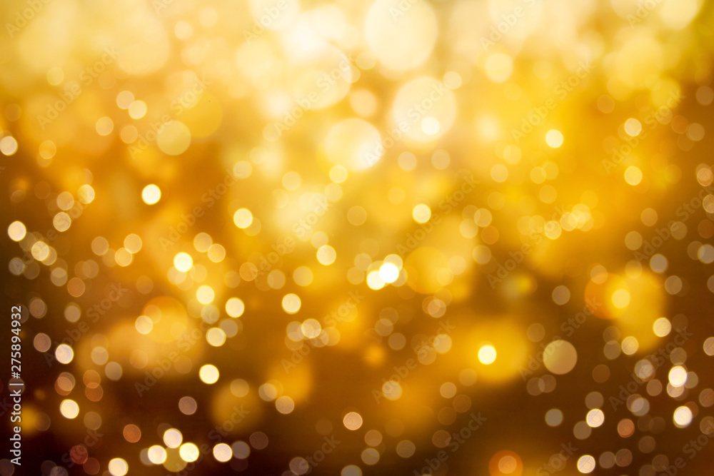 Fototapety, obrazy: Abstract blurred gold color bokeh background