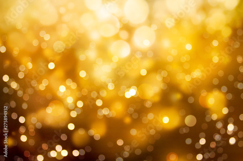 Photo  Abstract blurred gold color bokeh background