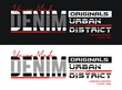 Denim sport typography, for t-shirt and other uses. vector illustrations
