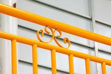 Yellow Metal Railings