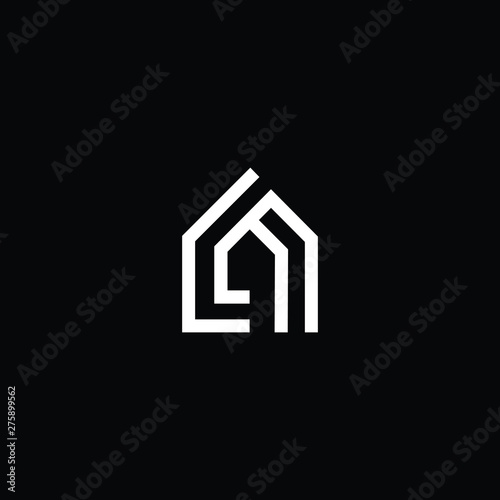 Photo  Logo design of L LL LA AL in vector for construction, home, real estate, building, property