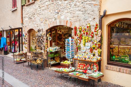 Souvenir shop in Sirmione, Italy