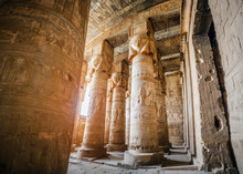 Hypostyle Hall With Columns In...