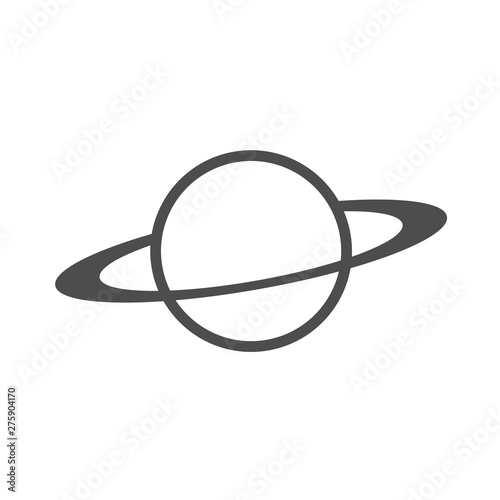 planet with rings vector icon Wallpaper Mural