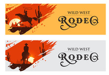 Cowboy Banners, Rodeo Cowboy R...