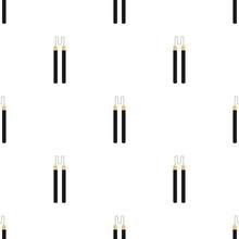 Seamless Pattern With Nunchaku Weapon. Ninja Weapon. Samurai Equipment. Cartoon Style. Vector Illustration For Design, Web, Wrapping Paper, Fabric, Wallpaper.