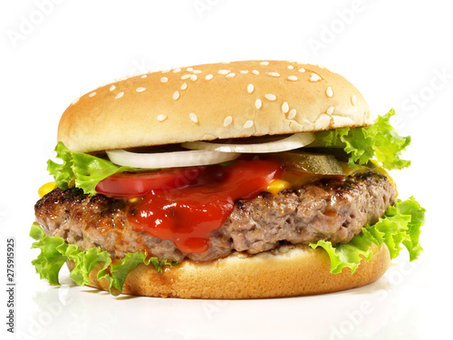 Tablou Canvas Hamburger vom Grill