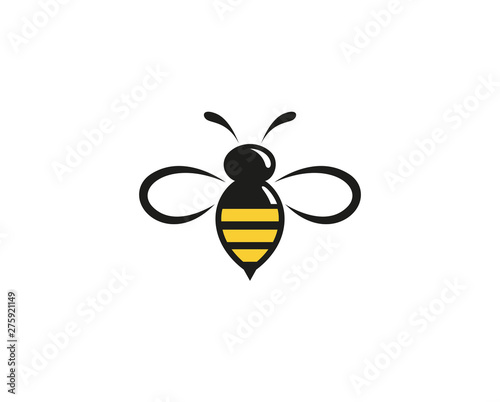 Leinwand Poster Creative Abstract Bumblebee Logo Design Vector Symbol Illustration