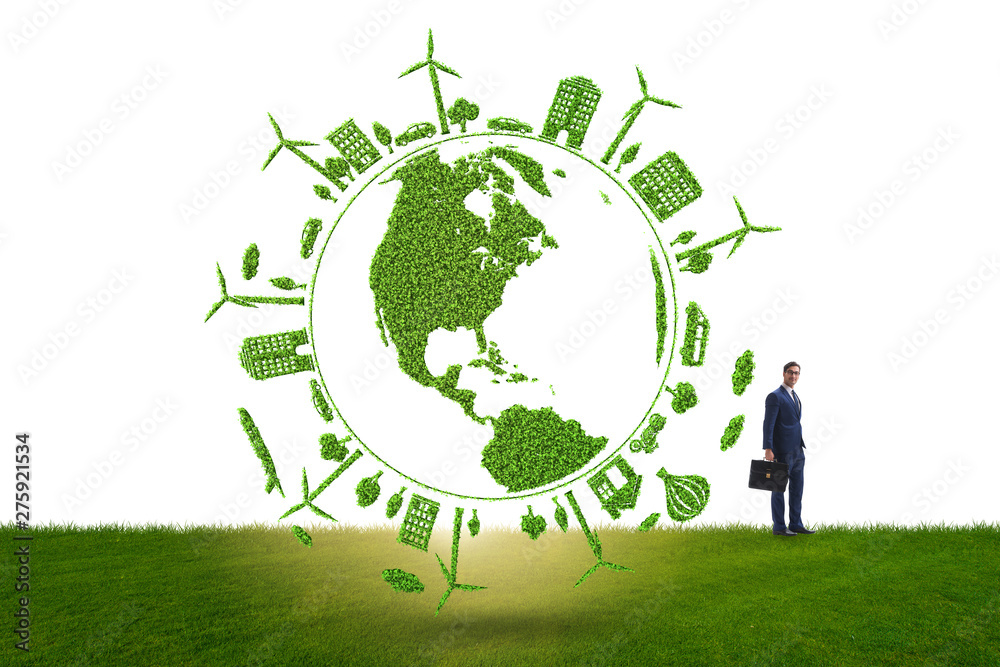Fototapety, obrazy: Concept of clean energy and environmental protection