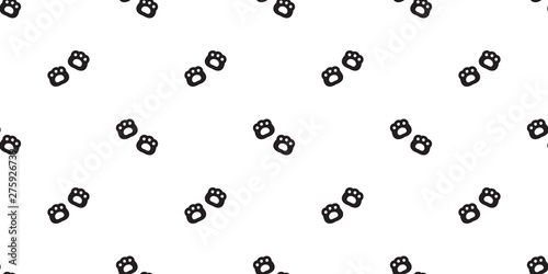 Bear paw seamless pattern vector polar bear footprint scarf isolated cartoon repeat background tile wallpaper doodle illustration design