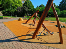 Playground From Soft Rubber Crumb In Prague