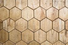 Wooden Floor In Form Of Honeycomb