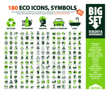 Big Vector Set Of Eco Icons, H...
