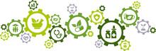 Green Alternative Medicine / Herbal Medicine / Natural Pharmaceuticals Icon Concept – Vector Illustration