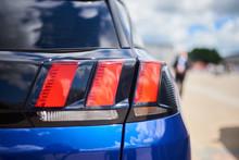 Rear Headlight, New Blue Car